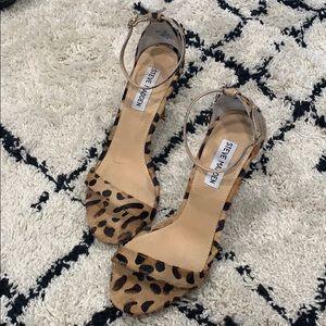 Steve Madden Animal Print Strappy Heels